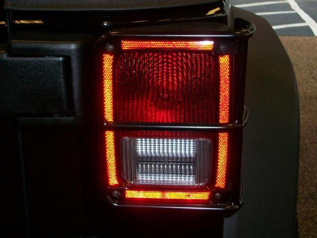 Black Euro Style Tail Light Guard