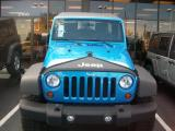 Blue Wrangler Unlimited Front Shop